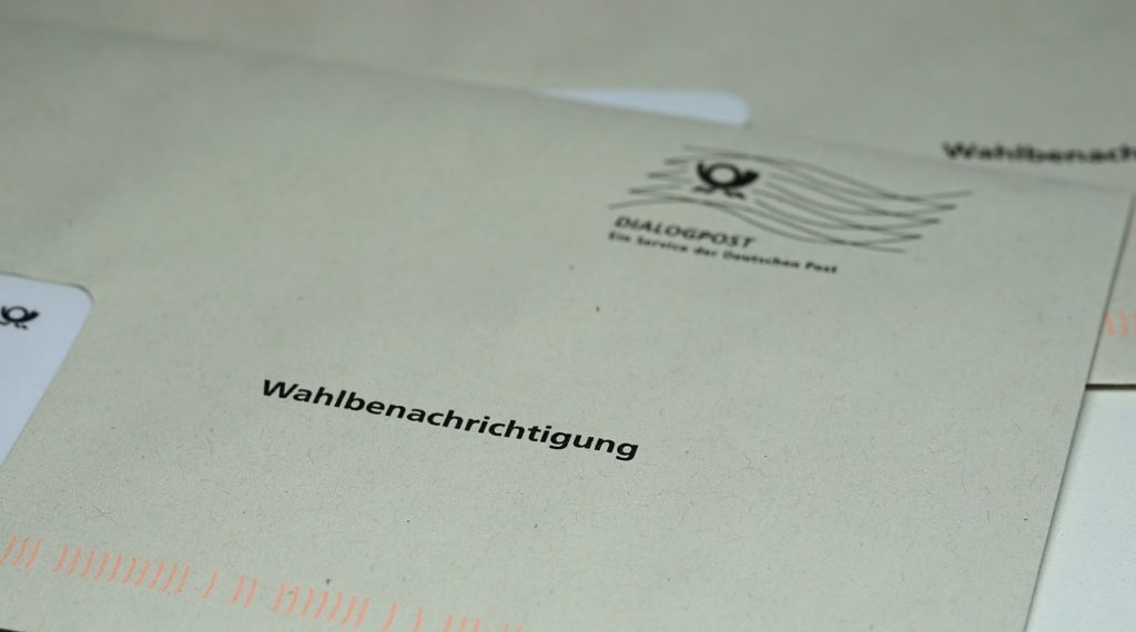bundestagswahl, election notification, letter choice