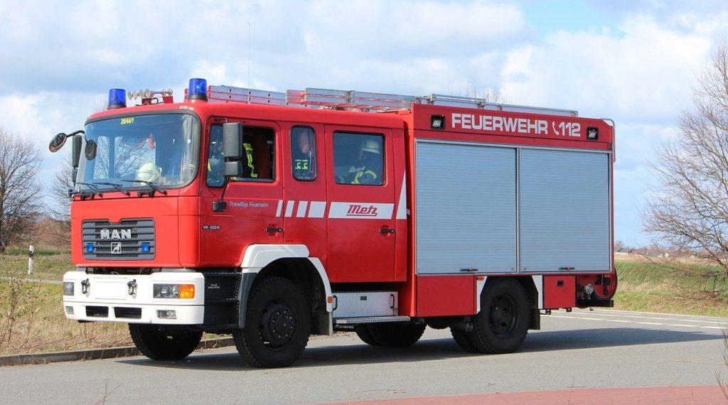 fire truck, use, fire fighting